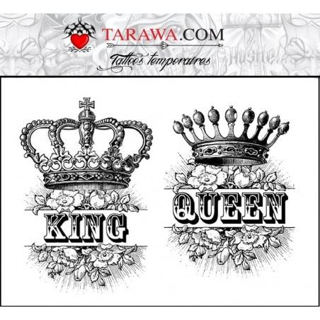 Tatouage éphémère King and Queen
