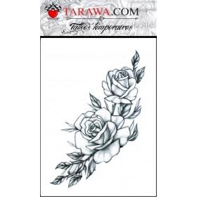 Tatouage éphémère Branche rosier