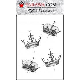 Tatouage éphémère couronne graphique