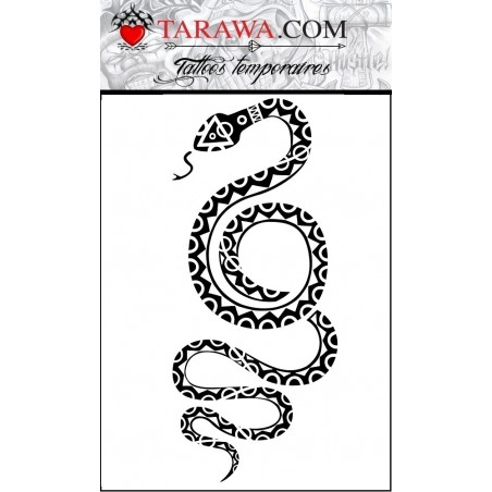 Tatouage éphémère serpent