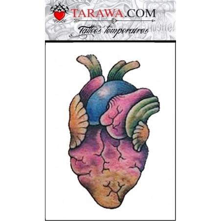 Tatouage coeur coloré