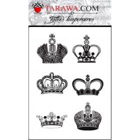 Tatouages temporaires Couronnes King Queen
