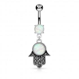 Piercing Nombril main Fatma opale