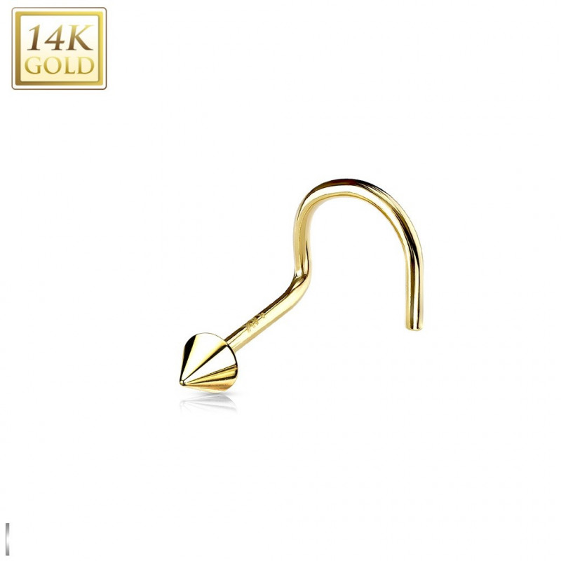 piercing nez en or avec pointe