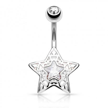 Piercing Nombril étoile Strass