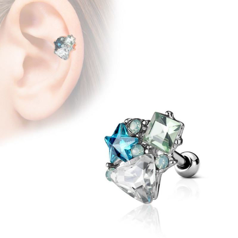 Piercing cartilage oreille divers motifs