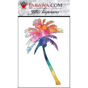 Tatouage éphémère Palmier Watercolors