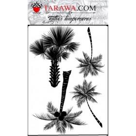 Faux tatouage quatre Palmiers