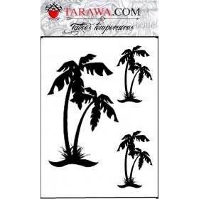 Planche tattoo trois Palmier