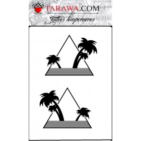 Tatouage éphémère palmier triangle graphique