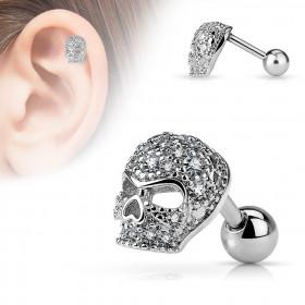 Piercing oreille skull avec strass