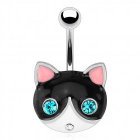 Piercing nombril tête de chat