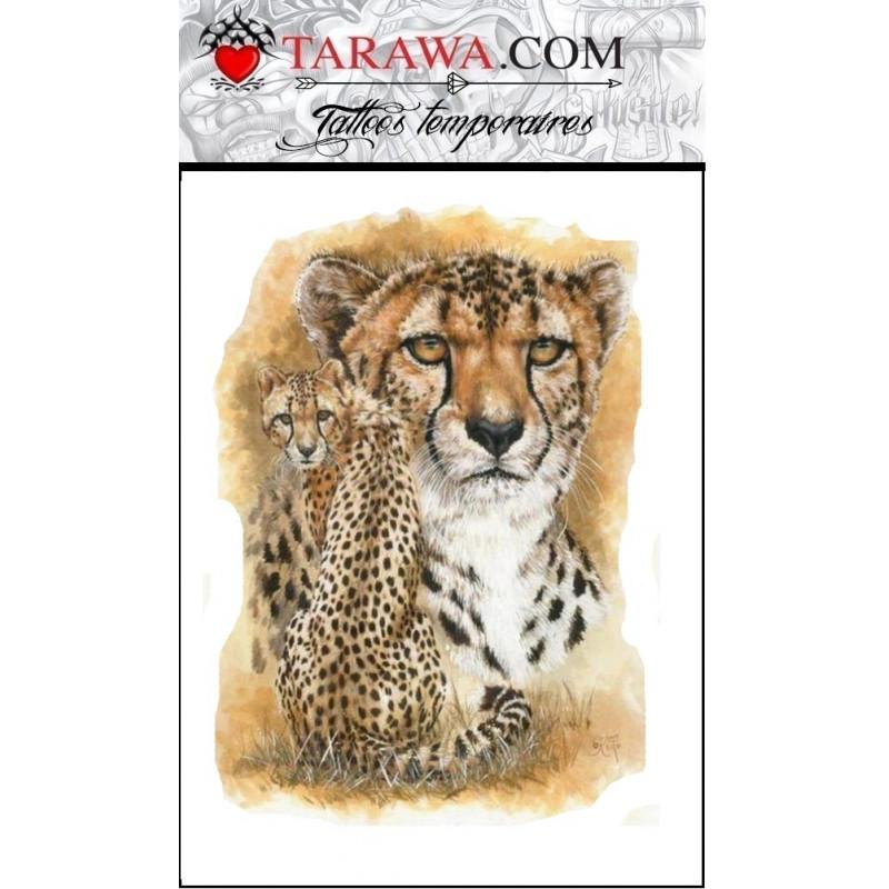 Tatouage temporaire guépard