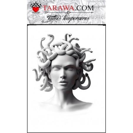 Tatouage Medusa statue