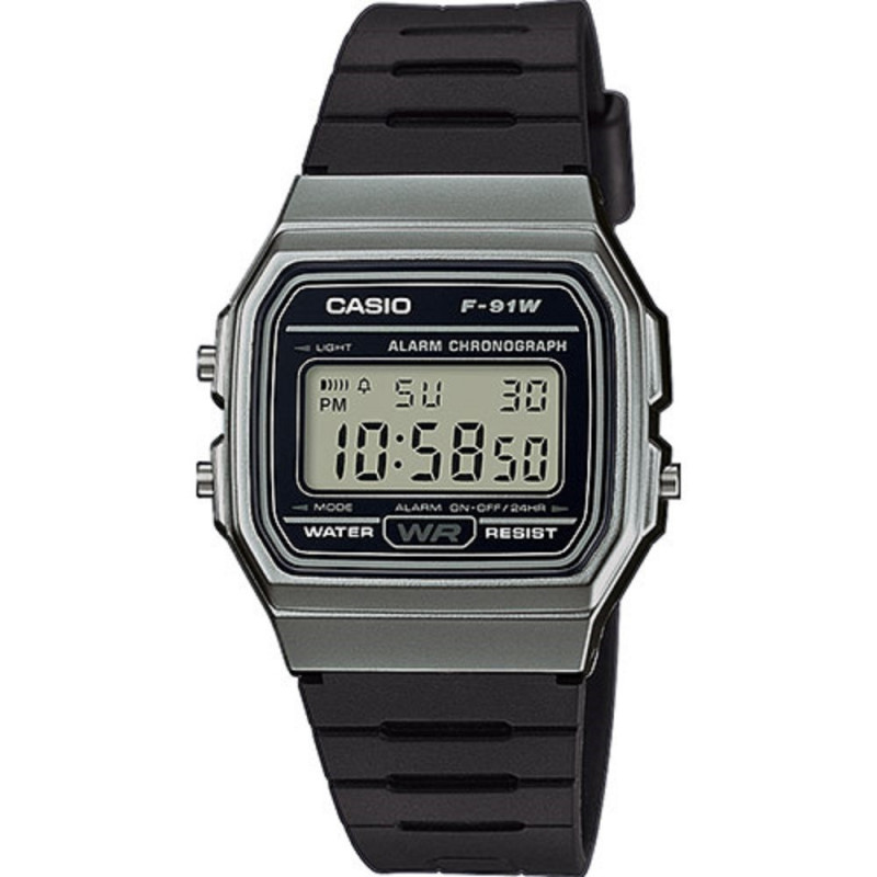 Montre Mixte Casio Collection F-91WM-1BEF