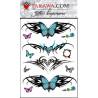 tatouage éphémère papillon tribal couleur