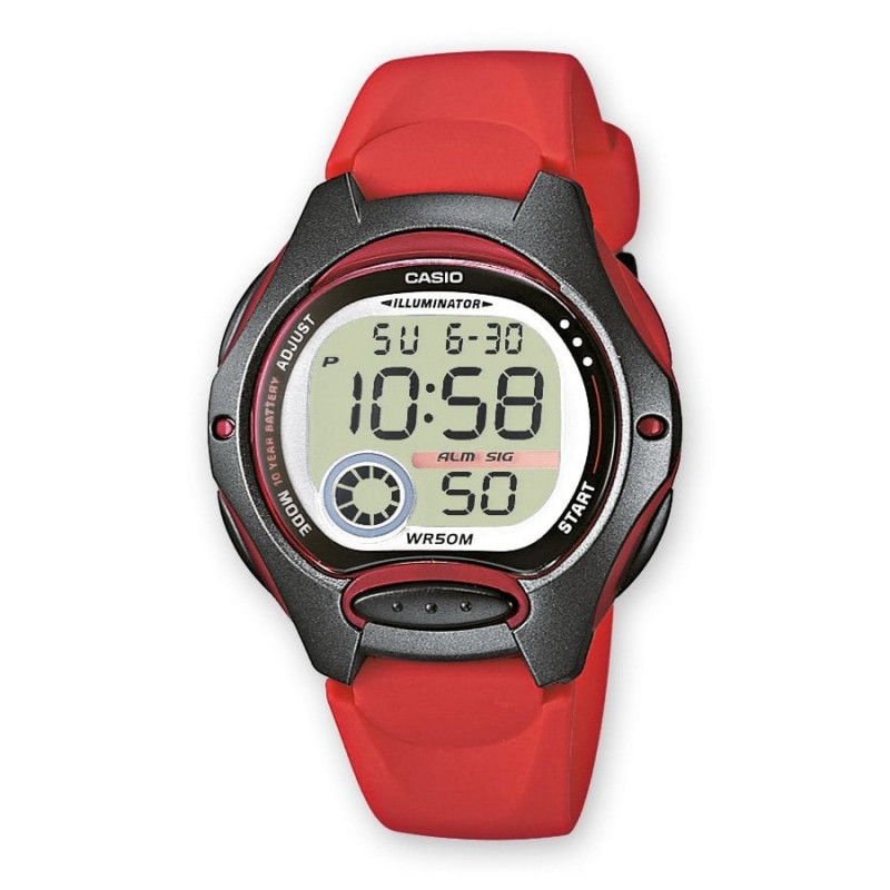 Montre enfant rouge Casio LW-200-4AVEF