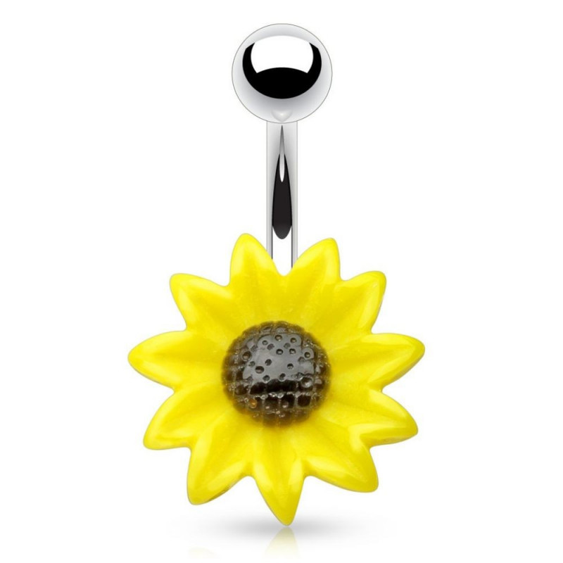 piercing nombril Tournesol