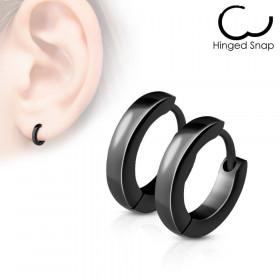 Boucles d'oreille anneaux noir 2.5