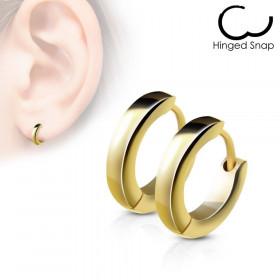 Boucles d'oreille anneaux doré 2.5