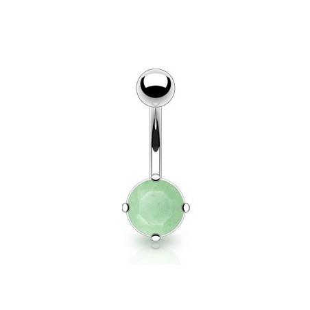 Piercing nombril Pierre naturel Jade