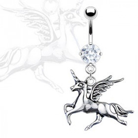 Piercing nombril licorne pendante