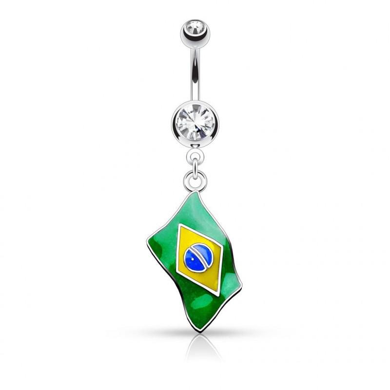 Piercing nombril Brésil