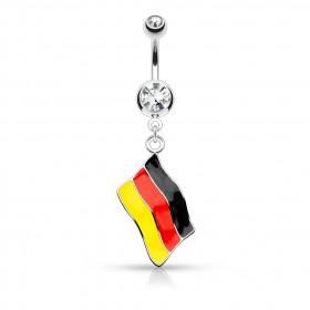 Piercing nombril drapeau de l'Allemagne