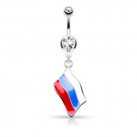 Piercing nombril drapeau de le Russie