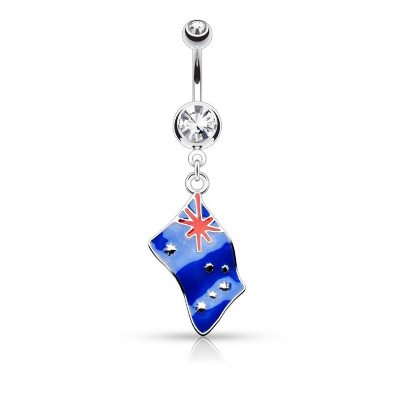 Piercing nombril drapeau de l'australie