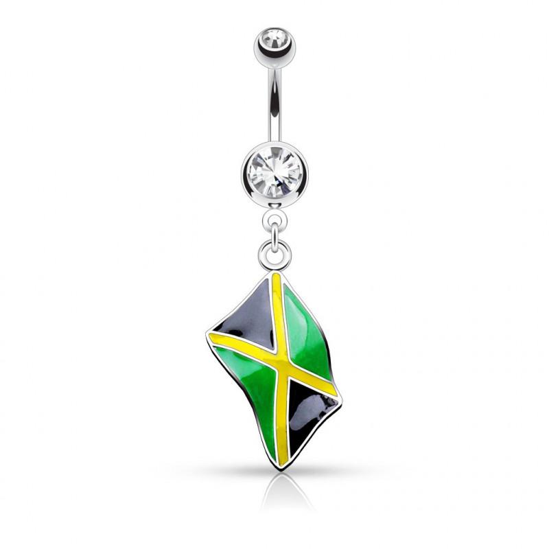 Piercing nombril drapeau de la Jamaique