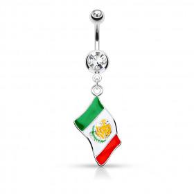 Piercing nombril drapeau du Mexique