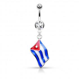 Piercing nombril drapeau de Cubas