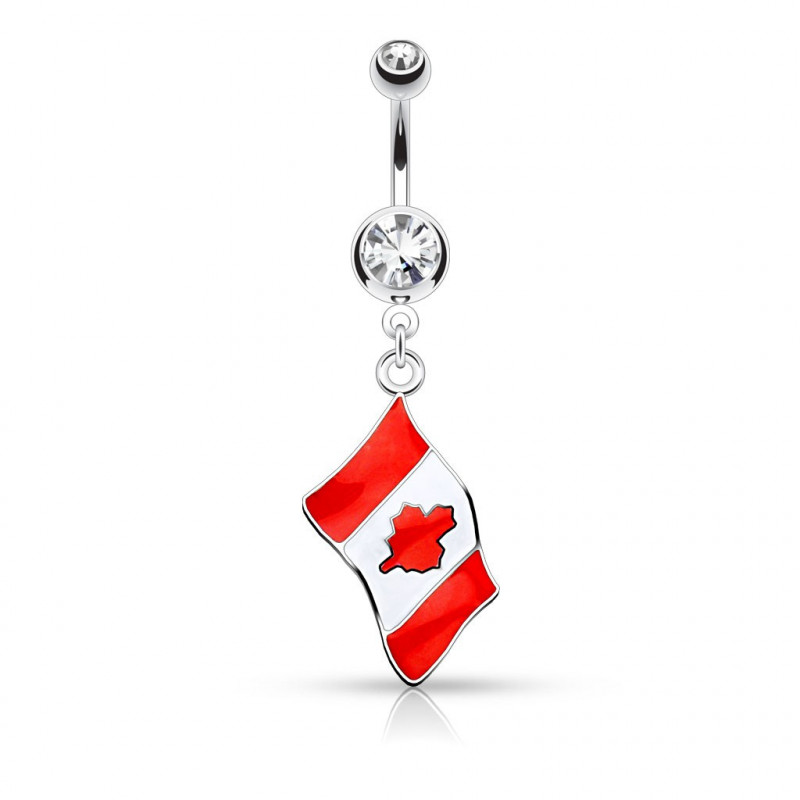 Piercing nombril drapeau du Canada