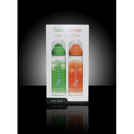 Easypiercing® Duo Pack - Mousse Nettoyante / Solution Antibactérienne