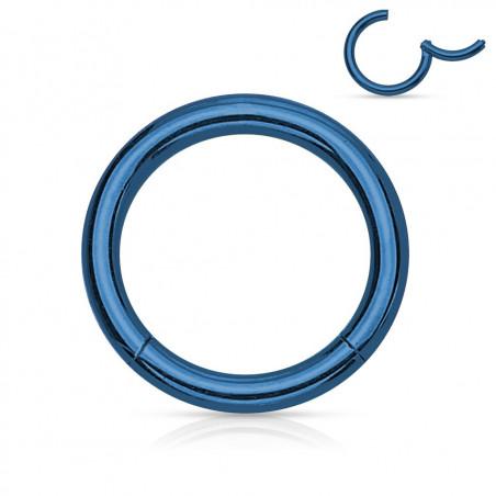 Anneau piercing nez acier bleu 0.8mm