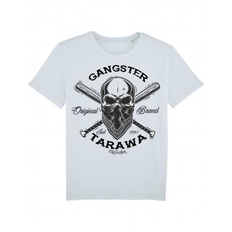 Tee-shirt blanc Gangster coton homme Marque Tarawa