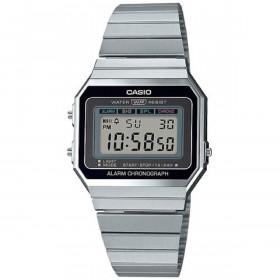Montre Casio mixt Digital avec Bracelet en Acier Inoxydable A700WE-1AEF