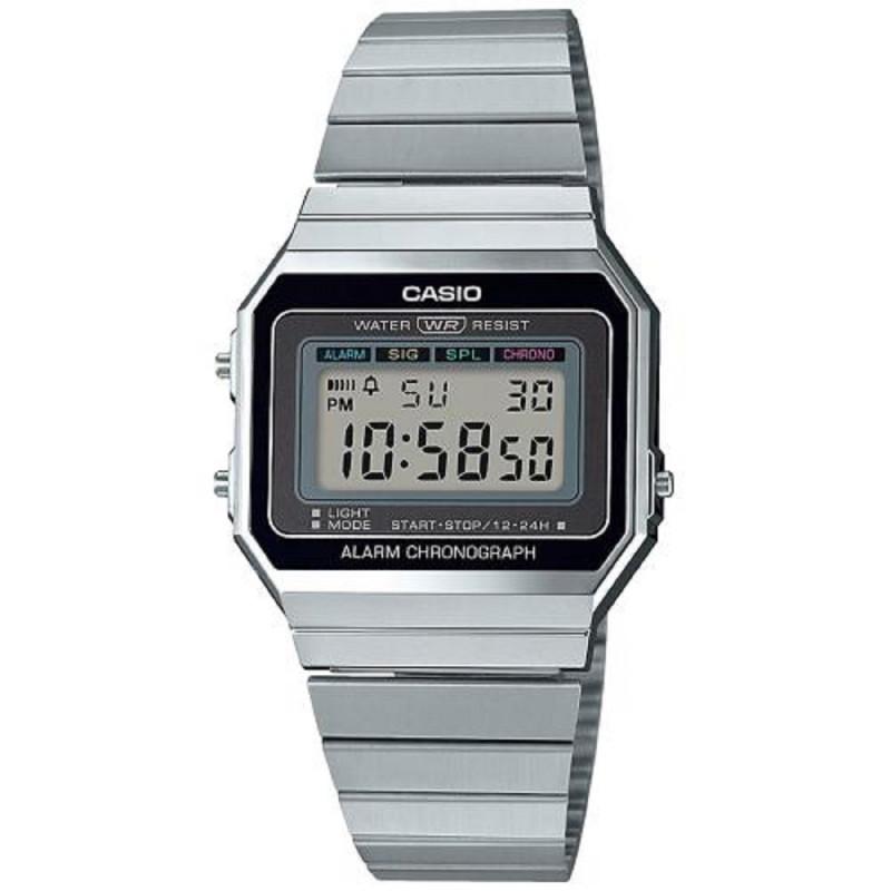Montre Casio mixte Digital avec Bracelet en Acier Inoxydable kfx4M