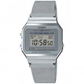 Montre Casio mixte Digital avec Bracelet en Acier Inoxydable A700WEM-7AEF
