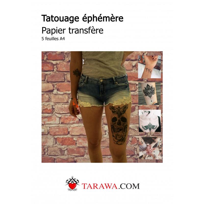 feuille tattoo imprimante tatouage éphémère
