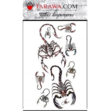 Tatouages autocollants Scorpion pour enfant