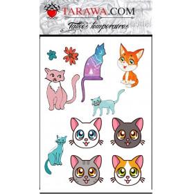 Tatouage éphémère enfant chatons