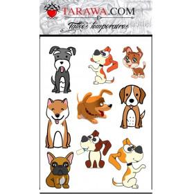 Tatouage décalcomanie chien pour enfant