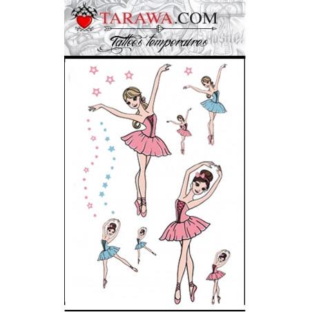 Tatouage danseuse ballerine pour enfant