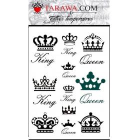 Tatouage king and Qween