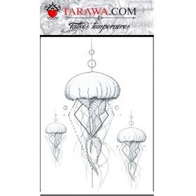 Tatouage éphémère méduse