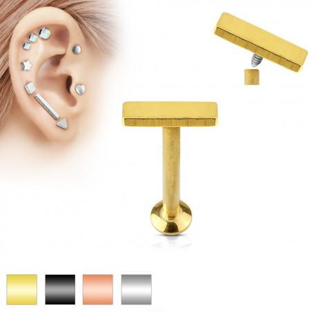 Piercing labret motif barre 2mm par 6mm de long