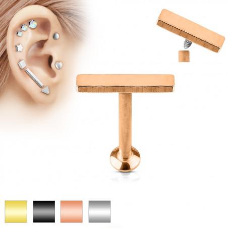 Piercing labret motif barre 2mm par 9mm de long