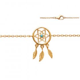 Bracelet en plaqué or Attrape rêve 18cm